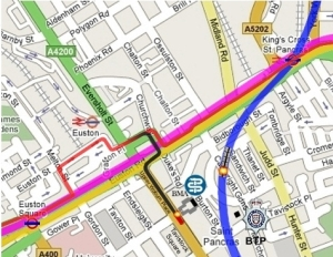 number 30 bus route - marble arch - hackney wick